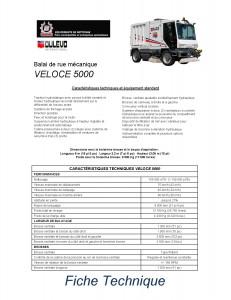 5000 VELOCE fiche technique francais image HD3