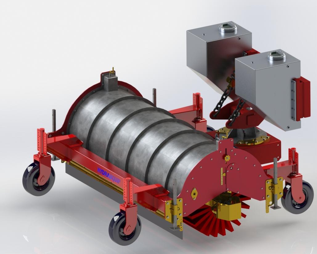 Balai tasseur pour tracteur / chargeur ou autre porteur