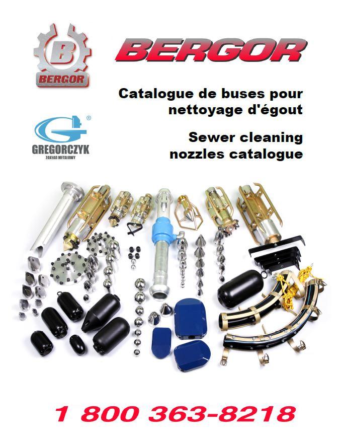 Catalogue de buses de nettoyage d'égout